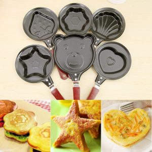 Breakfast Omelette Fry Pan Cartoon Non Stick Frying Pan For Eggs Mini Pancake Pot Creative Baking Pan Iron Omelette Pan Cast