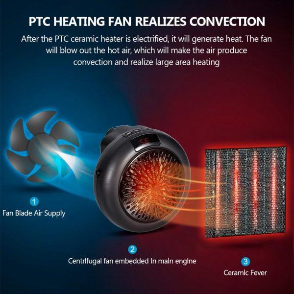 Mini Portable Electric Heater Desktop Heating Warm Air Heater Fan Home Office Bathroom Radiator Warmer Fan настенный обогревател